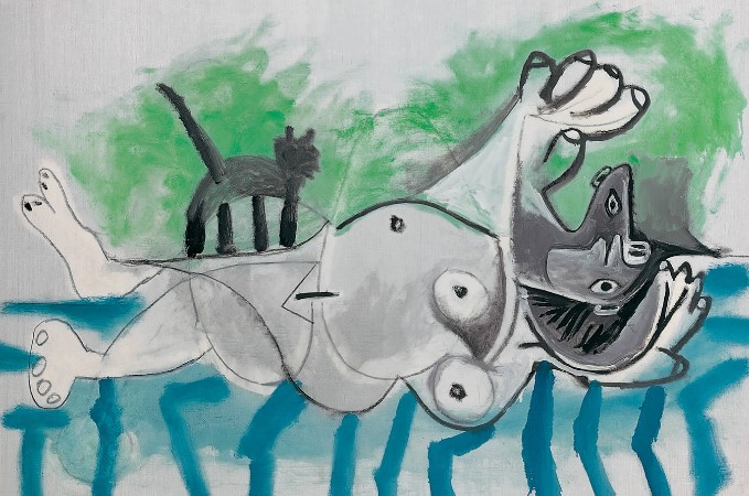 Pablo Picasso Nøgen med kat