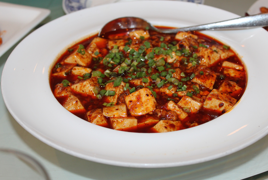 Stewed tofu with  chili
