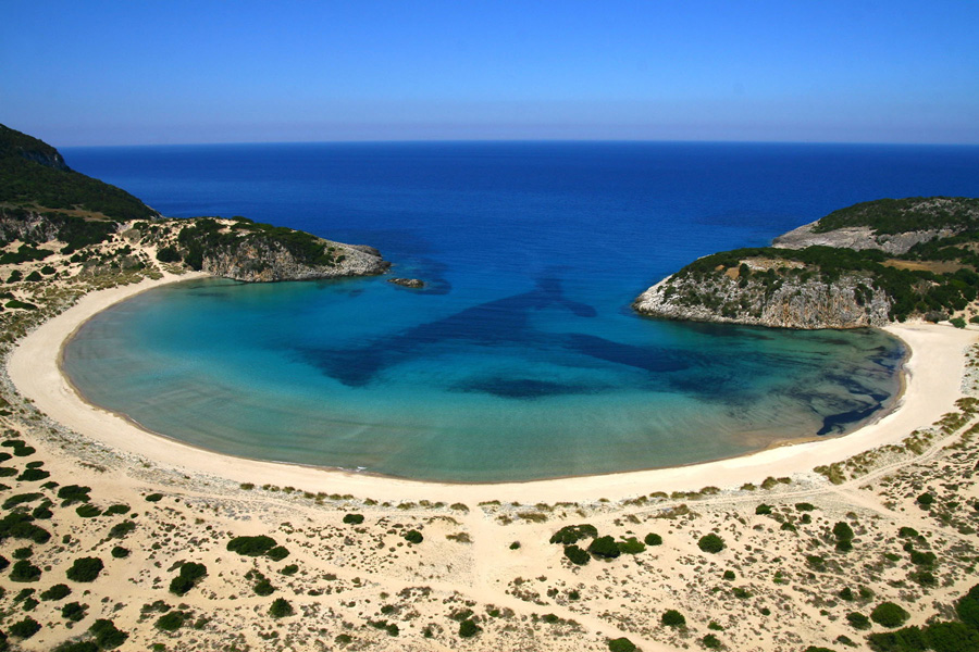 Voidokilia Beach in Costa Navarino