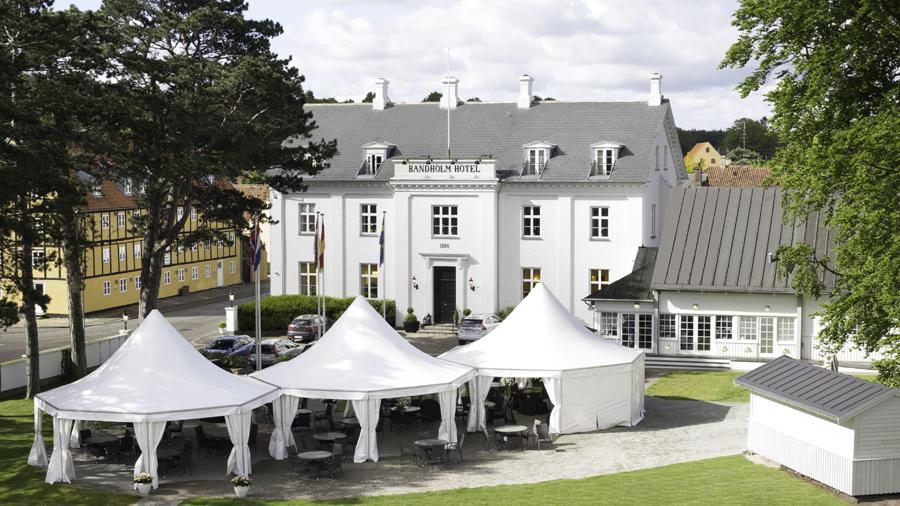 Bandholm Hotel med terrasse