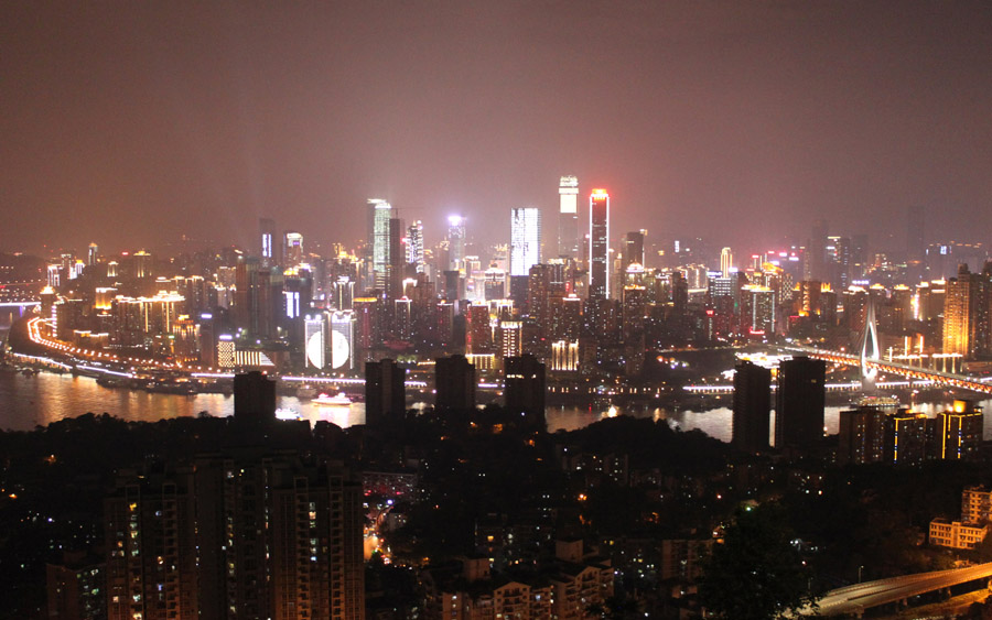 Chongquin skyline by night