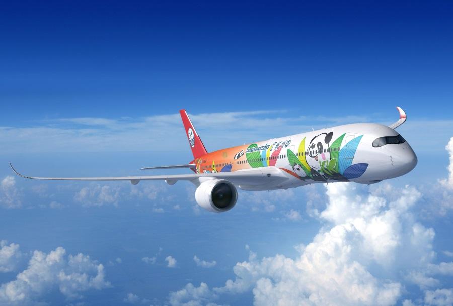 Takeoff til Chengdu med Sichuan Airlines